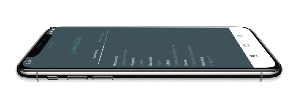 Sideview iPhone Mockup Profilseite